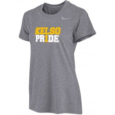 Kelso Youth Baseball 12: Nike Women's Legend Long-Sleeve Training Top - Gray With Choice of Logo