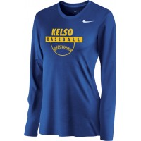 Kelso Youth Baseball 15: Nike Women's Legend Long-Sleeve Training Top - Royal Blue