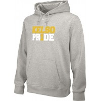 Kelso Youth Baseball 16: Youth-Size - Nike Team Club Men's Fleece Training Hoodie - Gray With Choice of Logo