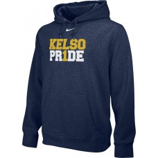 Kelso Youth Baseball 13: Adult-Size - Nike Team Club Men's Fleece Training Hoodie - Navy With Choice of Logo