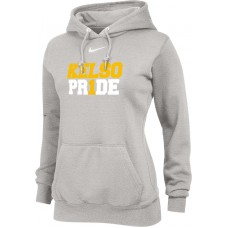 Kelso Youth Baseball 18: Nike Team Club Women's Fleece Training Hoodie - Gray With Choice of Logo