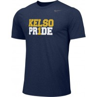 Kelso Youth Baseball 01: Adult-Size - Nike Team Legend Short-Sleeve Crew T-Shirt - Navy With Choice of Logo